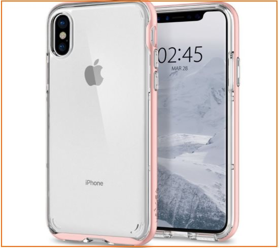 1 Spigen Hybrid Crystal Best iPhone X Bumper cases