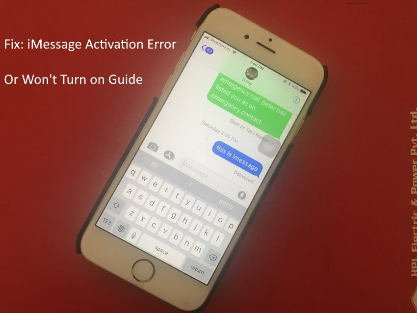 1 iMessage Activation Error on iPhone 8 8 Plus or iPhone X