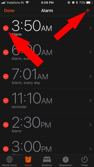 10 Delete or Add New alarm on iPhone clock app