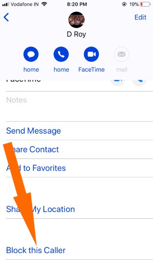 12 Block Message Contact in iPhone