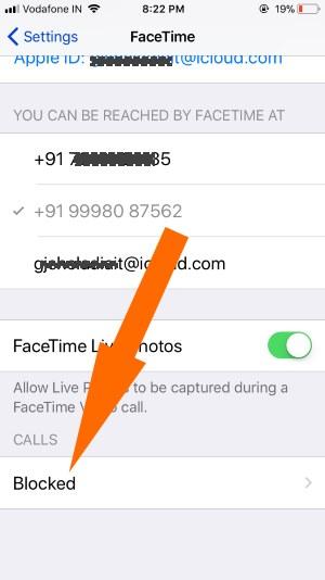 17 FaceTime Block list in iPhone settings
