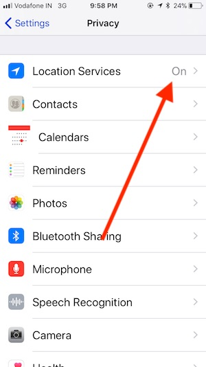 how to get location services on iphone 5