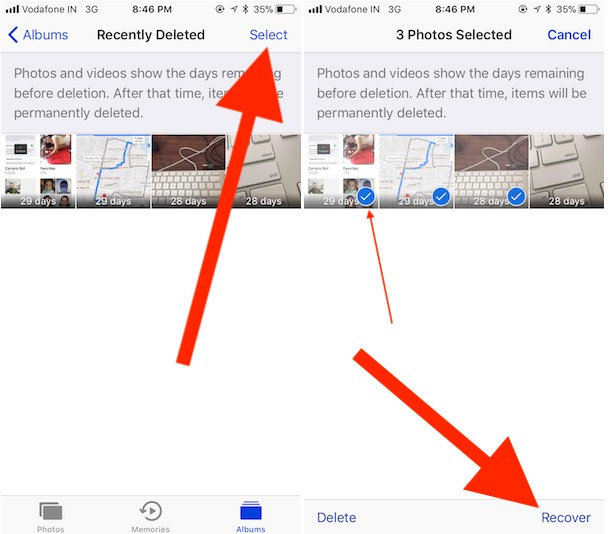 2 Recover Deleted photo on iPhone