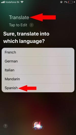 2 Translate Siri Command or Text using Siri