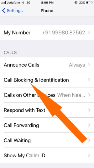 3 Call Blocking and Identification on iPhone for Phone app settings in iOS 11