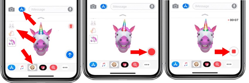 3 Use Animoji on iPhone X record and download