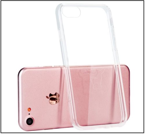 4 Crystal Clear Bumper case for iPhone 8