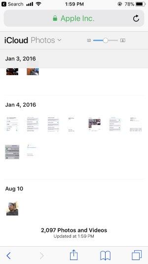 5 Photo in Desktop view under icloud com browser