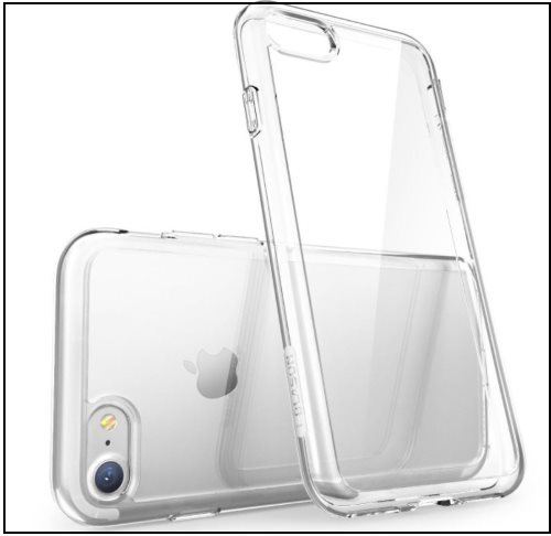 5 Scratch Resistance Bumper Clear case for iPhone 8