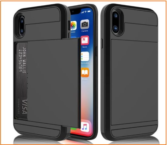 5 iPhone Wallet Hard Bumper case for iPhone X