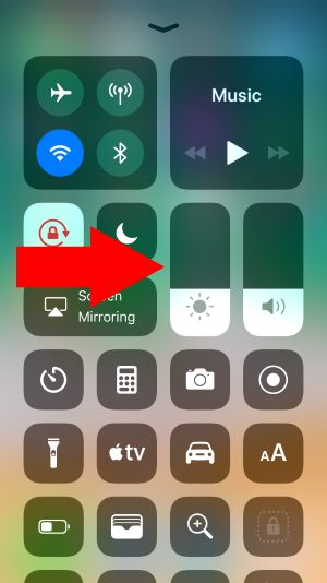 6 Change Brightness Level on iPhone Control Center
