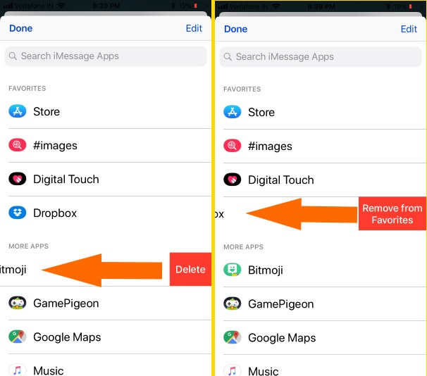 9 Remove Apps from Message App Drawer or Remove from Favorites
