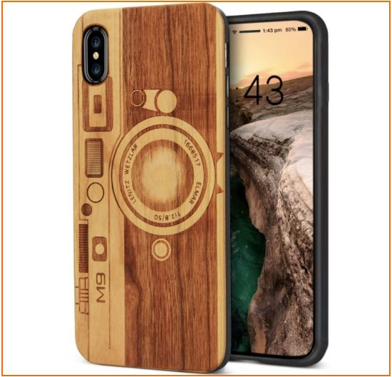 9 iPhone X Wodden case