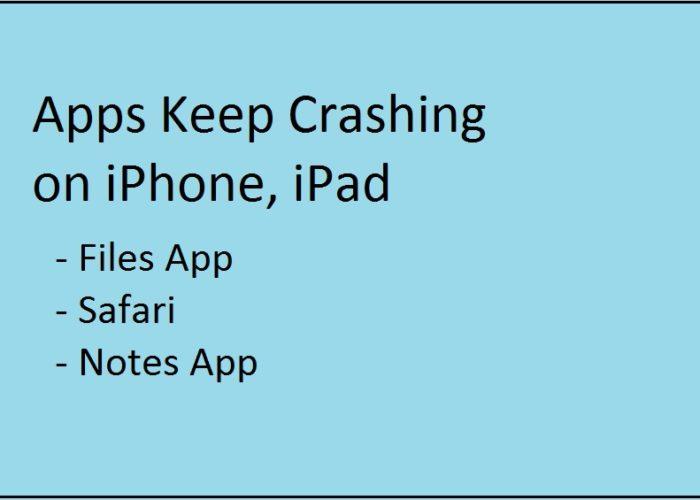 App keeps crashing on iPhone and iPad in iOS 11