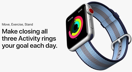 Apple Watch 3 Move exercies Stand three activity rings