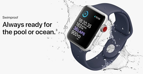 Apple Watch 3 Swimproof always ready for the pool or ocean
