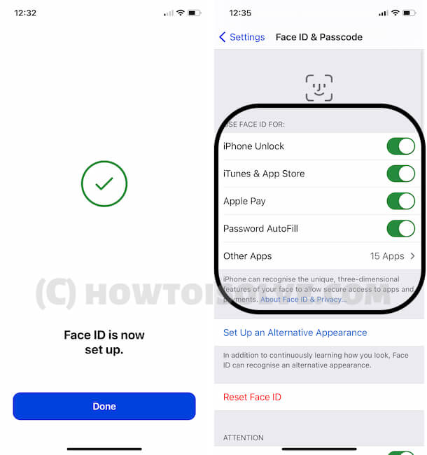 Enable Face ID for iPhone unlock and more