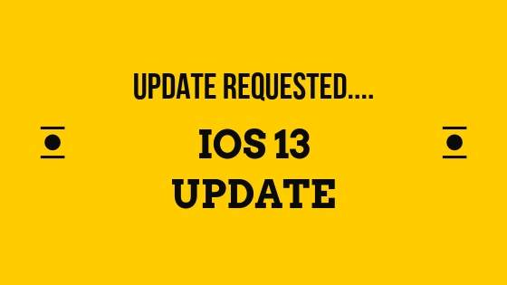 iPhone stuck on iOS 13 Update Requested....