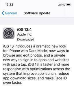 iOS 13.4 free firmware