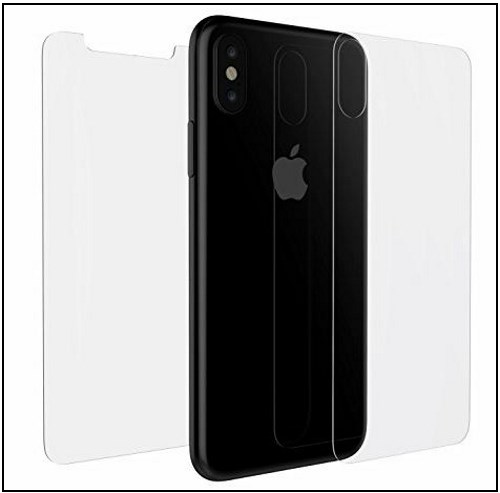 3 Luvvitt iPhone X back clear protector