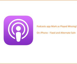 4 Podcasts app Mark as Played missing after update iOS