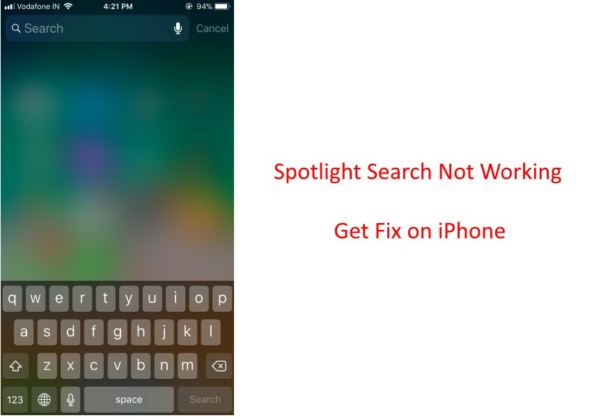 4 Spotlight Search not working on iPhone