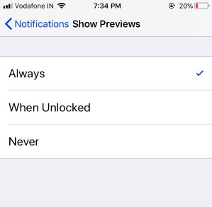 5 Manage Preview settings on iPhone settings