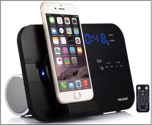 6 Velour Speaker Dock for iPhone 8 8 Plus and iPhone X Docking Station