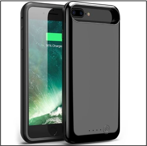 7 Foxin Super thin high storage power back case for iPhone 8 -