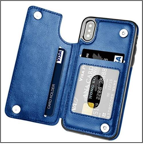 7 Shockproof Leather Wallet case