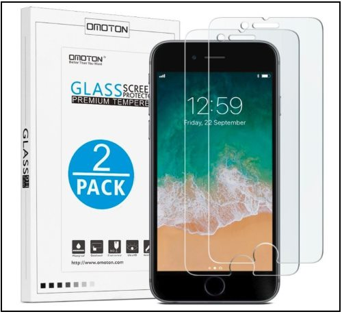 8 OMOTON Tempered Screen Protector for iphone 8 Plus
