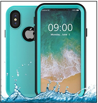 Goton Full Body IP68 Certified Waterproof Shockproof Snowproof Dustproof Protective Case Cover for Apple iPhone X