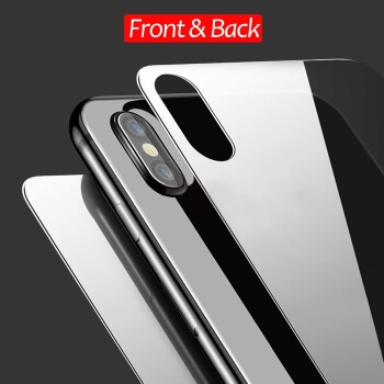 JingooBon Front and Back Screen Protector Compatible with iPhone X