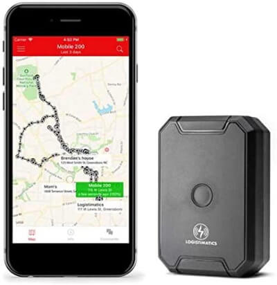 LOGISTIMATICS GPS Tracker with Live Audio