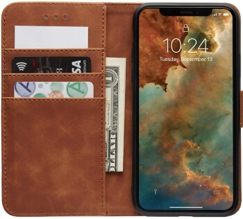 MARYBLE Wallet PU Leather Case with Internal Card Holder