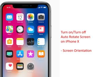 Manage Auto Rotate Screen on iPhone X