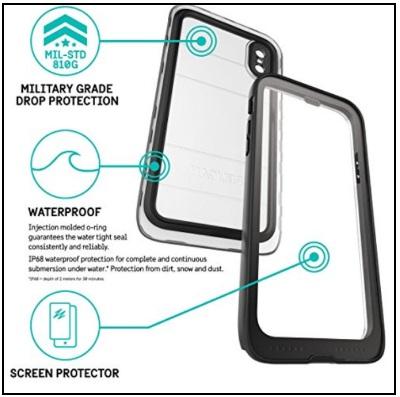 separation shoes 19970 e7d0e Best iPhone X Waterproof Case in 2019:IP68 Underwater Cases Belt Clip