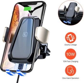 TORRAS- Easy to install Wireless Car Charger for iPhone X