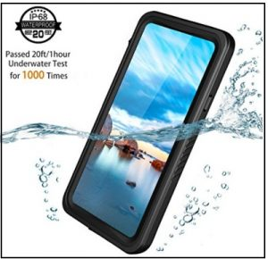 Temdan UNIQUE Series Shockproof Waterproof Rugged Case with Kickstand Built in Screen Protector Waterproof Case for iPhone X