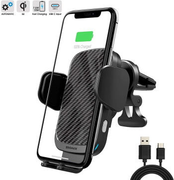 ZOOAUX- Wireless Car Charger for iPhone X