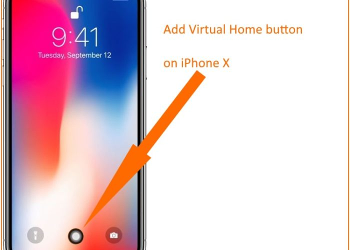 1 Add Virtual Home button on iPhone X screen