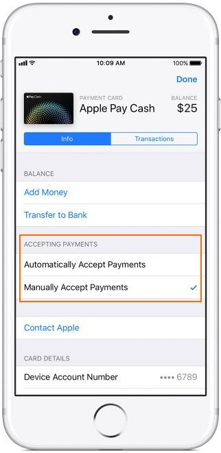 1 Apple Pay Cash change Automatically or Manually on iPhone