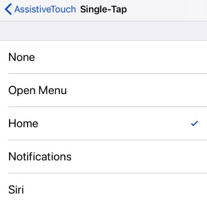 1 Assistive Touch Single Tap on Screen