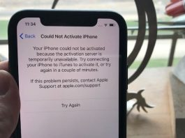 1 Could not activate iphone X