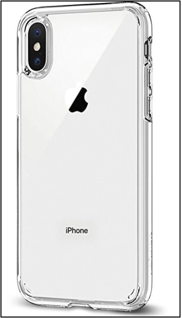 1 Spigen iPhone X Clear case