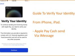 1 Verify your Identity for apple pay cash