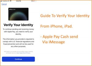 "Fix ""Verify your Identity"" for Apple Pay Cash on Messages: iPhone, iPad"