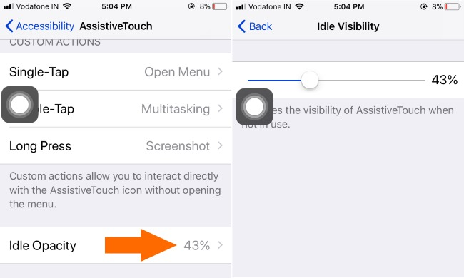 2 Idle Visibility for Assistive Touch Idle Opacity