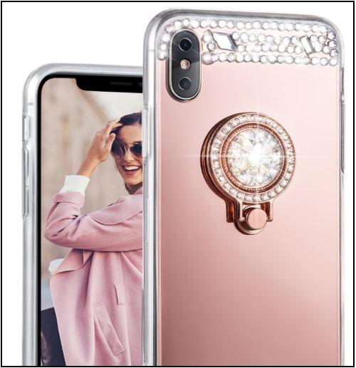 5 Glitter iphone X kickstand case