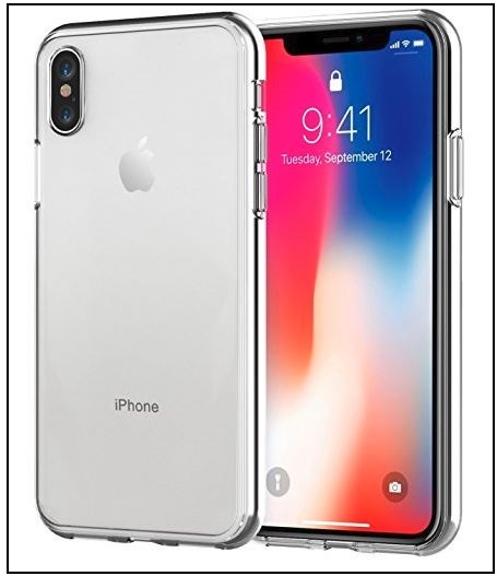 5 Jetch iPhone X Back Clear Case